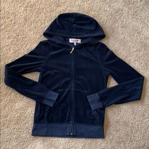 JUICY LOVES NEW YORK Velour Hoodie. Size Small